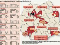 Harta alimentelor in Romania. Unde se gaseste cea mai ieftina mancare?