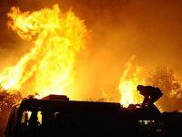 Un hotel de 4 stele din Sinaia, gata sa fie distrus de un incendiu. VIDEO