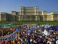 Sindicalistii au incheiat mitingul de la Parlament cu 2 ore mai devreme decat era programat
