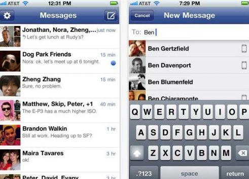 facebook lanseaza serviciul de chat gratuit pentru mobil - Chat Gratuit
