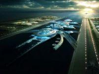 """Cel mai futurist aeroport al lumii, o constructie """"extraterestra"""" pe apa. FOTO"""