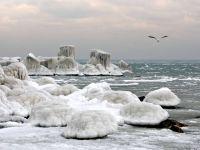 Iarna s-a dezlantuit. Marea Neagra ofera la Constanta spectacolul naturii