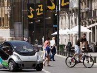 Spaniolii si americanii au rezolvat problema locurilor de parcare. Construiesc masina care se pliaza. GALERIE FOTO