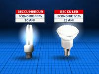 Becurile economice vor fi inlocuite cu cele cu leduri, care consuma cu 90% mai putin curent si pot arde si 25 de ani