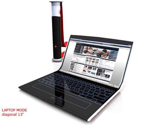Laptopul care se ruleaza sau tastatura care nu exista. Cum arata gadgeturile viitorului. FOTO+VIDEO