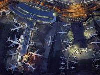 Cum se vede de sus unul dintre cele mai mari aeroporturi ale lumii. GALERIE FOTO