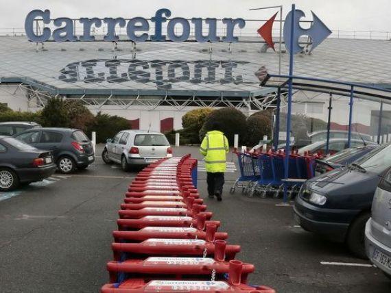Sediile Carrefour din Franta, perchezitionate in cadrul investigatiei privind preturile produselor agricole