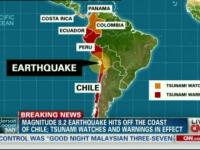 Cutremur cu magnitudinea de 8,2 in Chile: cel putin cinci morti
