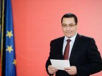 "Ponta: ""Executia bugetara din trim. I poate duce la scaderea CAS. Romania sustine o piata europeana unica a energiei"""