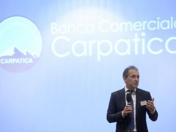 Conducerea Carpatica vrea sa reia discutiile cu Nextebank pentru fuziune si propune o reducere a capitalului. Actiunile bancii se prabusesc cu 15% la BVB