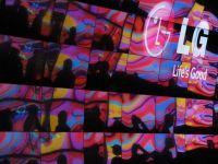 LG anunta lansarea televizorului flexibil, care se ruleaza, si a celui transparent. FOTO