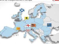 HARTA INTERACTIVA a miscarilor secesioniste din Europa. Legatura dintre referendumul pentru independenta din Scotia si Romania