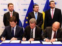 Europa va avea gaze la iarna. Rusia, Ucraina si UE au semnat un acord privind reluarea livrarilor de catre Gazprom, valabil pana in martie 2015