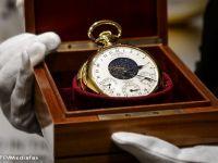 """Cel mai scump ceas din istorie. """"Graves"""", creat de Patek Philippe in anii '30, vandut cu pretul record de 24 mil. dolari. Este capabil de operatiuni cu cel mai mare grad de complexitate din lume"""