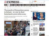 """Presa de la Londra probeaza """"numarul urias"""" de imigranti din Marea Britanie"""" cu fotografii cu """"legiunile"""" de romani stand la cozi sa voteze: """"Pacat ca nu sunt alegatori britanici la alegerile britanice"""""""