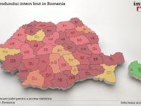 Evolutia Produsului Intern Brut in Romania. Judetul unde valoarea PIB va fi in 2018 de 33 de ori mai mica fata de Bucuresti