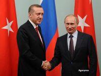 In plin vartej politic la Ankara, Erdogan se reimprieteneste cu Putin. Cele doua tari reiau lucrarile la gazoductul Turkish Stream si la o centrala nucleara