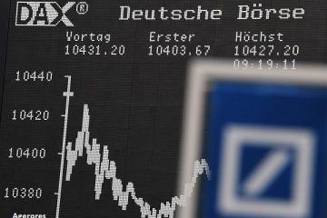 Cea mai mare banca germana se prabuseste pe burse. Actiunile Deutsche Bank au atins un nou minim, la Frankfurt. Pe BVB, titlurile nemtilor au scazut cu 50%, in acest an