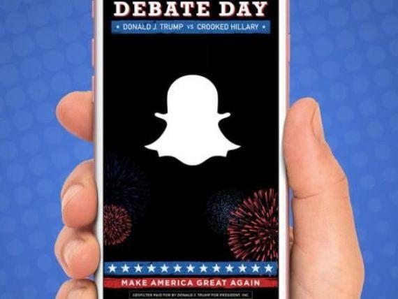 Veteranul Twitter vs. Neastamparatul Snapchat la prima dezbatere Clinton - Trump