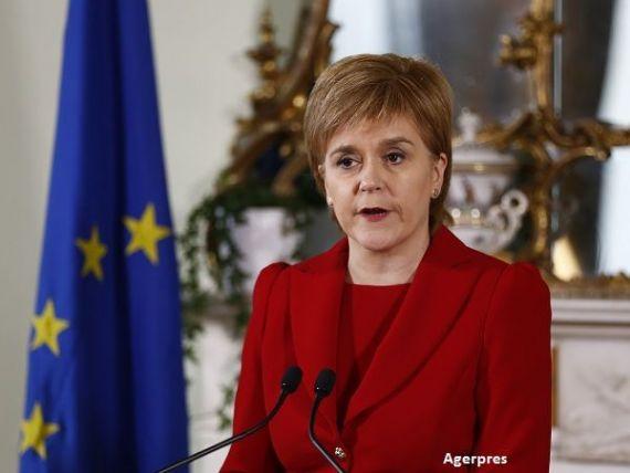 Scotia ameninta din nou cu separarea de Marea Britanie, daca va fi exclusa de pe piata unica, in urma Brexitului. Ce propune premierul de la Edinburgh