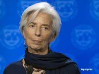 Avionul șefei FMI, Christine Lagarde, aterizare de urgență