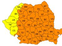 COD PORTOCALIU de ger in 36 de judete si Bucuresti, luni si marti. Minimele vor fi cuprinse intre -29 si -15 grade