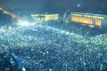 Manifestatiile din Romania fac inconjurul lumii.  Protestul luminii , urmarit de milioane de oameni din SUA si pana in China