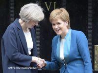 Intalnire cruciala intre sefa Guvernului de la Londra si premierul Scotiei, cu trei zile inaintea declansarii Brexitului. May: Nu este timpul potrivit pentru organizarea unui referendum pentru independenta