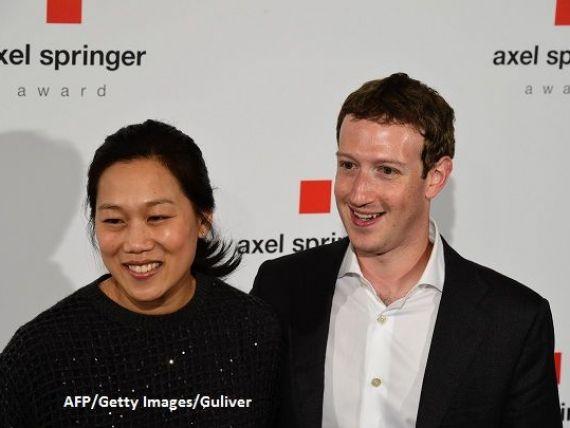 Mark Zuckerberg a anuntat ca va deveni tata pentru a doua oara in ziua in care actiunile Facebook au atins cel mai ridicat nivel din istoria companiei