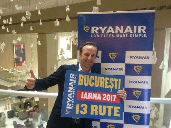 Ryanair lanseaza orarul de iarna pentru Bucuresti si scoate la vanzare bilete la 7,99 euro