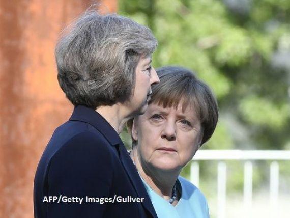 Merkel vs. May. Cancelarul german:  Am impresia ca britanicii traiesc cu iluzia ca vor avea aceleasi drepturi ca o tara a UE, dupa Brexit . May:  Mesajul arata ca negocierile se anunta dure