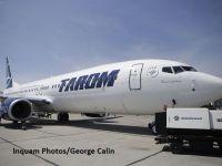 """""""Sarmizegetusa"""", prima aeronava Boeing 737-800 NG din flota Tarom a aterizat, miercuri, la Bucuresti. A doua vine saptamana viitoare. FOTO"""