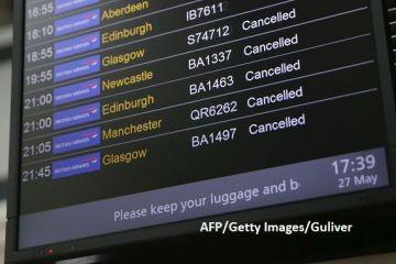 Nota de plata dupa  macelul  IT de la British Airways. Citigroup: Operatorul aerian ar putea plati 111 mil. euro, dupa ce 170.000 de pasageri au ramas la sol