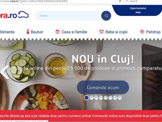 Cora Romania a extins in Cluj serviciul de cumparaturi online