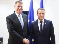 Intalnire Iohannis-Macron la Bruxelles. Presedintele Frantei a acceptat invitatia de a veni in Romania in urmatoarele luni