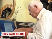 La 81 de ani, un bunic a absolvit o scoala postliceala de analist programator:  Nu puteam sa-mi las mintea sa rugineasca