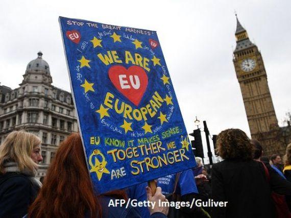 Jumătate dintre britanici susţin organizarea unui al doilea referendum referitor la ieşirea Regatului din Uniunea Europeană