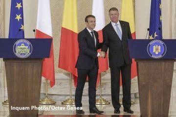 Președintele Franței, în vizită la București. Muncitorii detaşaţi și reformarea Spațiului Schengen, principalele subiecte de discuție. Iohannis:  România îşi doreşte să devină un membru re-fondator al UE