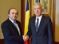Ambasadorul SUA, Hans Klemm, discută cu Tudorel Toader despre modificarea legilor Justiției
