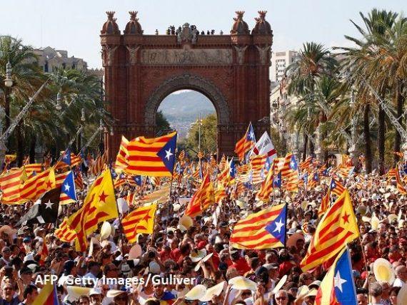 Încă un pas către secesiune. Catalonia a aprobat legea pentru organizarea referendumului de independență față de Spania. Madridul reacționează dur