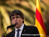 Președintele separatist al Cataloniei nu clarifică dacă a declarat independența provinciei sau nu și cere două luni de negociere cu Madridul