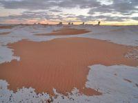 A nins în deșertul Sahara, unul dintre cele mai fierbinți locuri de pe Pământ, pentru al treilea an la rând