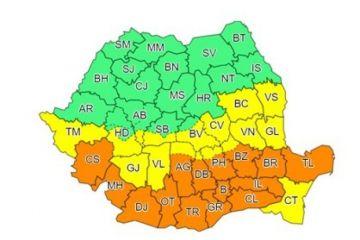 Un ciclon format în Mediterană, cu praf saharian, aduce un val de ger în România. Capitala şi 14 judeţe intră sub Cod portocaliu de ninsori abundente