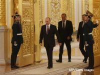 Vladimir Putin, învestit pentru a patra oară în funcția de președinte al Rusiei. Este cel mai longeviv lider rus de la Stalin încoace