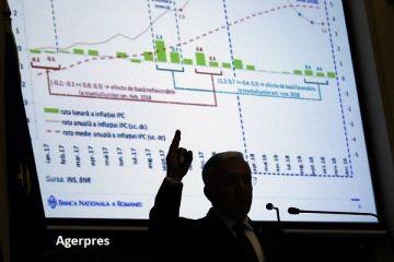 BNR a revizuit în scădere prognoza de inflație. Isărescu:  Rămân presiuni inflaţioniste în economie. Nu jubilăm şi nici nu spunem că s-a câştigat războiul
