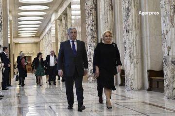 Preşedintele PE, Antonio Tajani, primit de Viorica Dăncilă la Palatul Victoria, unde vor discuta despre preluarea Preşedinţiei Consiliului Uniunii Europene de către România