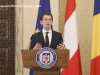 Cancelarul Austriei, la Cotroceni:  Firmele austriece din România ar putea să-şi strângă lucrurile şi să plece, dar nu-mi fac griji pentru aceste firme. Îmi fac griji pentru economia românească