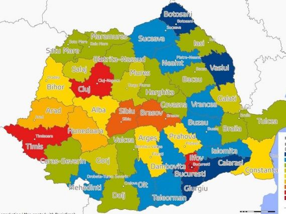România bogată vs. România săracă. Care sunt județele cu cea mai mică putere de cumpărare și unde sunt polii de dezvoltare